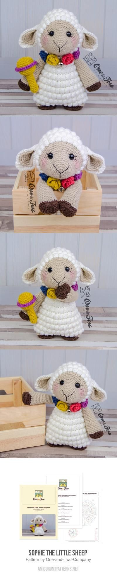 Sophie the Little Sheep  amigurumi pattern