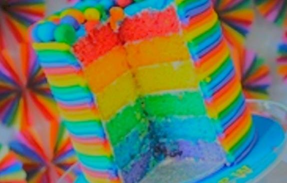 Neon cake!