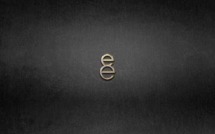 8e Gold Logo Dark Grunge Texture Desktop Wallpaper