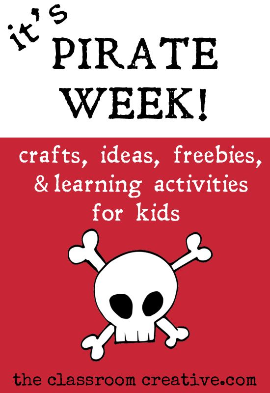 summer fun 101-pirate themed week-crafts, activities, ideas, and free printables for kids from theclassroomcreative.com