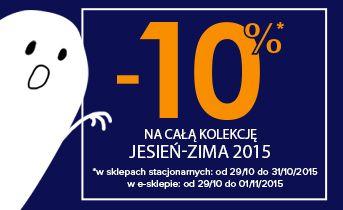 W sklepach stacjonarnych i na www.dpam.pl pojawiły się kolejne jesienno-zimowe NOWOŚCI i od 29/10 do 01/11/2015 na hasło: HALLOWEEN kupicie je z 10% RABATEM!