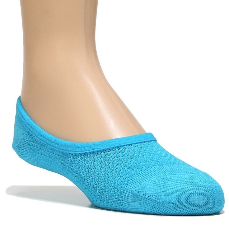 Famous Footwear 5 Pack Youth Girl Ultra Thin Footie (Neon)