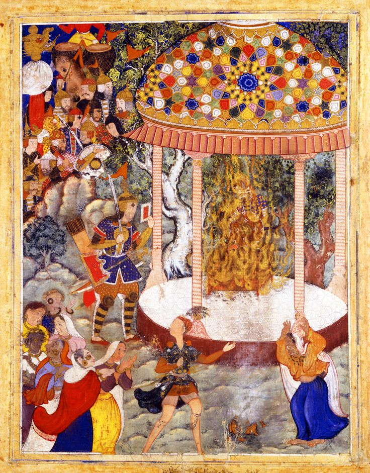 Hamza Burns Zarthust's Chest and Shatters the Urn with his Ashes