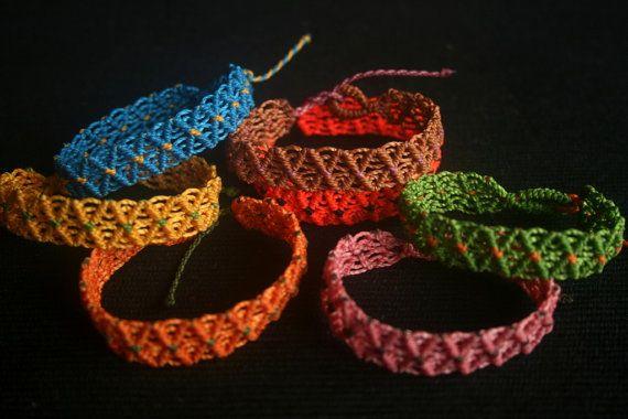 Macrame Friendship Bracelets by GlobalGypsyJewelry on Etsy
