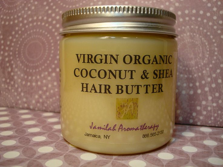 Virgin Organic Coconut Shea Hair Butter - Moisturizing Treat for All Hair Types with Lavender, Rosemary, EOs and more, 4 oz.. $12.00, via Etsy.
