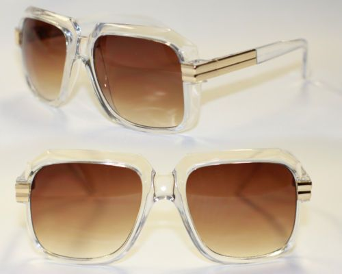 Nerd-Sunglasses-Old-School-80s-clear-gold-brown-Rum-DMC-Retro-men-or-women-914