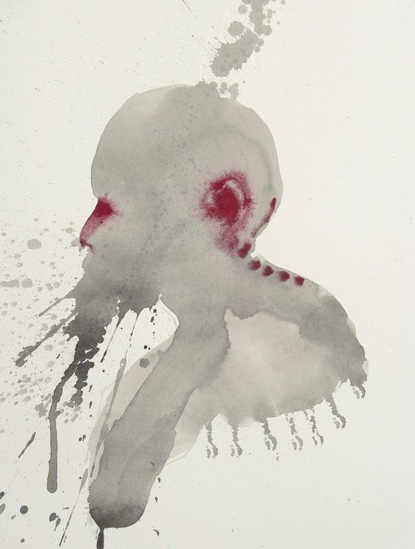 Morphè XIX - Inks and pigments on paper - 41x31 cm - 2011 - Alessio Pierro