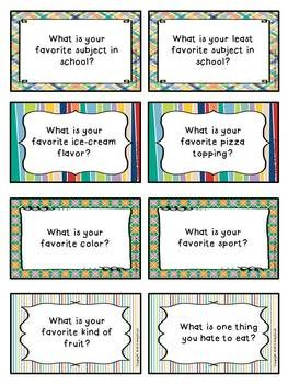 Back to School Icebreakers----- Good Morning Meeting Questions!!!