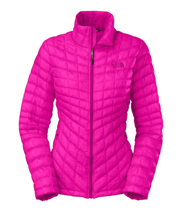 The North Face Thermoball Full Zip Jacket for Women in Luminous Pink   North face thermoball jacket. Zip jacket women. North face women