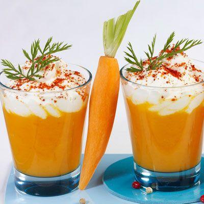 Découvrez la recette Cappuccino de carottes sur cuisineactuelle.fr.