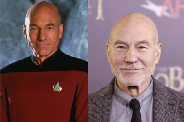 Then and Now - Sir Patrick Stewart 2014.