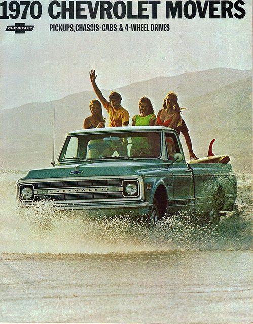 1970 Chevrolet Pickup Truck: Autos Advert, Chevy Pickup, Beaches Fun, Pickup Trucks, Old Trucks, Chevrolet Trucks, 1970 Chevrolet, 1970 Chevy Trucks, Chevrolet Pickup