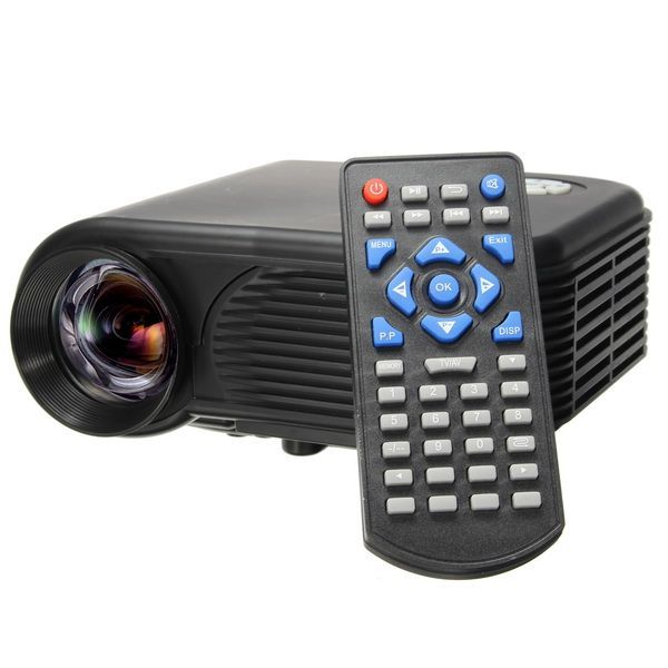 Portable Mini LCD Projector Home Cinema with HDMI USB AV VGA SD Interface #homecinemaprojector