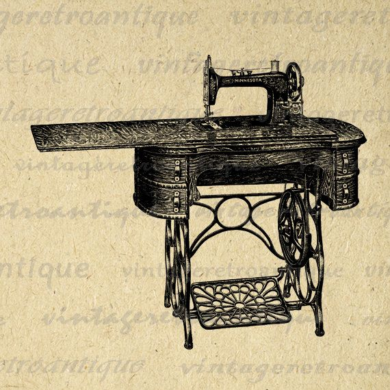 Antique Sewing Machine Digital Image by VintageRetroAntique, $1.75    http://www.etsy.com/listing/112520724/antique-sewing-machine-digital-image?ga_search_query=sewing