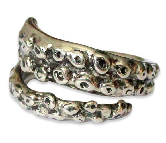 Octopus Tentacle Ring by Moon Raven Designs