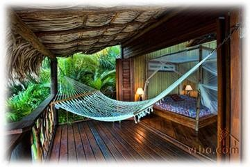 Ohh very unique chic....Fuego del Mar villa on Roatan in Honduras. Great secluded honeymoon spot!