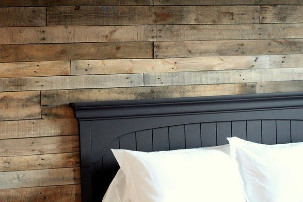 Reuse pallet wood to create the perfect cottage accent wall. | 26 DIYs That Will Help You Completely Own Cottage Season