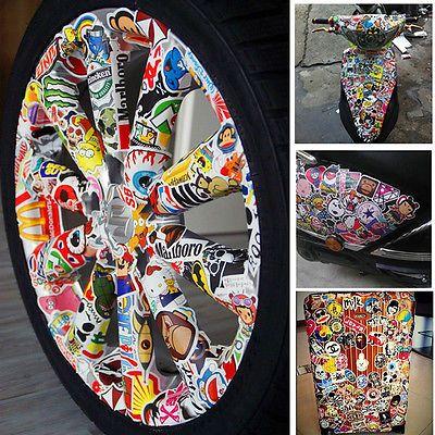 300Stk Aufkleber im Set Stickerbomb Tuning Aufkleber Autoaufkleber Style decals