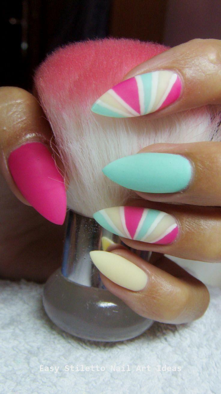 30 große Stiletto Nail Art Design-Ideen #nailideas – Creative Stiletto Nails Designs