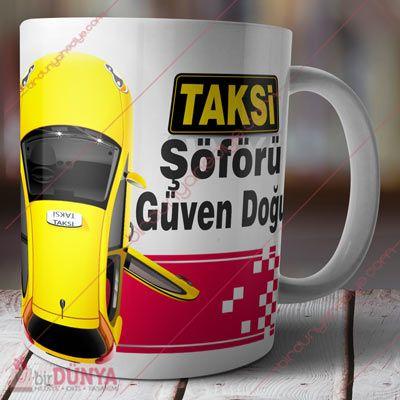 Taksi Şoförlerine Özel Kupa Bardak