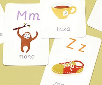 Really cute printable Spanish alphabet cards from Mr Printables.