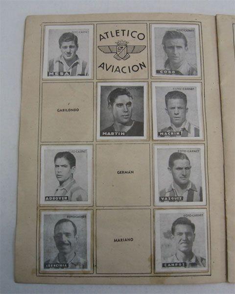 Atlético Aviación. Cromos Editorial Cisne 1942-43. Liga Española.