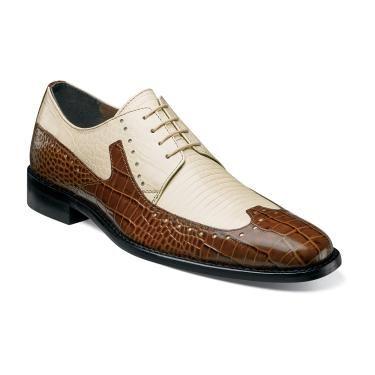 stacy adams portello crocodile lizard print leather fashion oxford mens shoe +