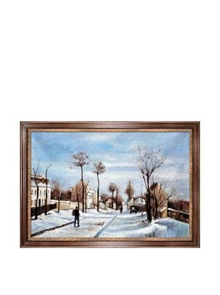 Camille Pissarro Street in the Snow, Louveciennes