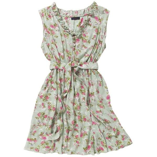 Multi coloured picnic dress ($24) ❤ liked on Polyvore featuring dresses, vestidos, short dresses, robes, women's dresses & skirts, green dress, mini dress, green cocktail dress and evening dresses