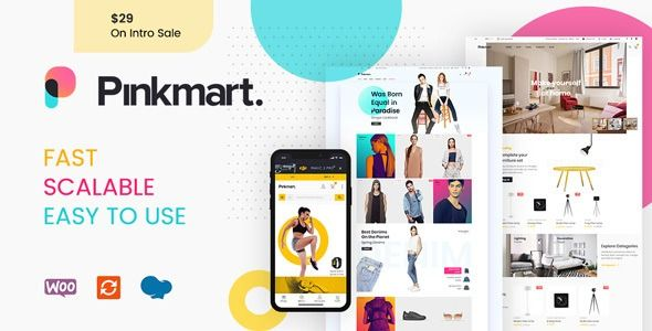 Pinkmart Ajax Theme For Woocommerce Stylelib Wordpress Theme Ecommerce Themes Woocommerce