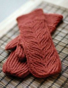 Jared Flood's Grove mitten pattern.  I can see these in Malabrigo Rios.  Just need to find a matching tam pattern.