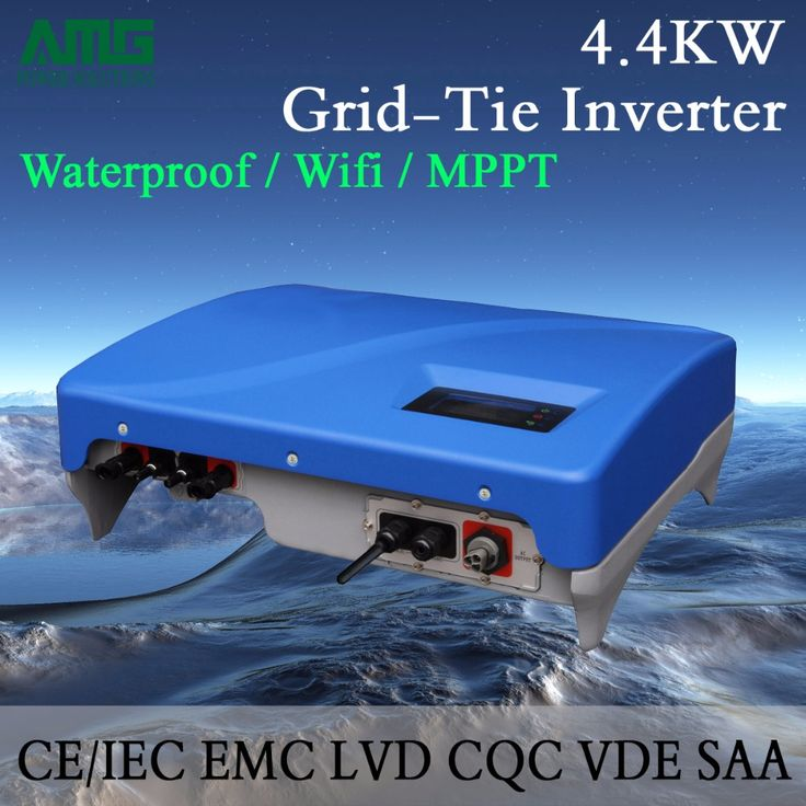 4.5KW(4400W) Dual Input MPPT Waterproof IP65 On Grid Tie Solar Power Inverter Wifi Default Conversion Efficiency 99.95% #Affiliate