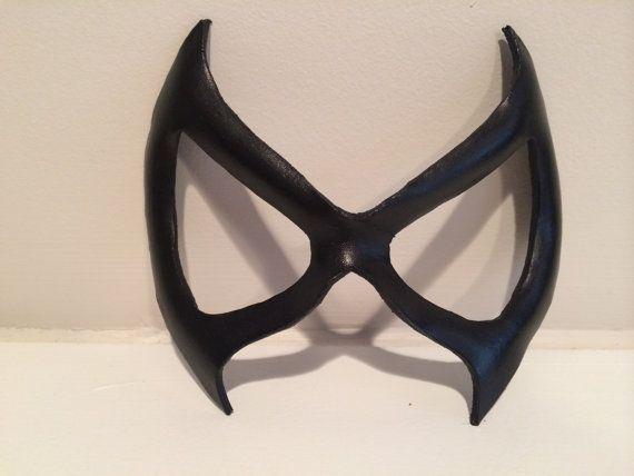 Superhero Leather Mask  Black Cat Marvel by SinesCreations on Etsy