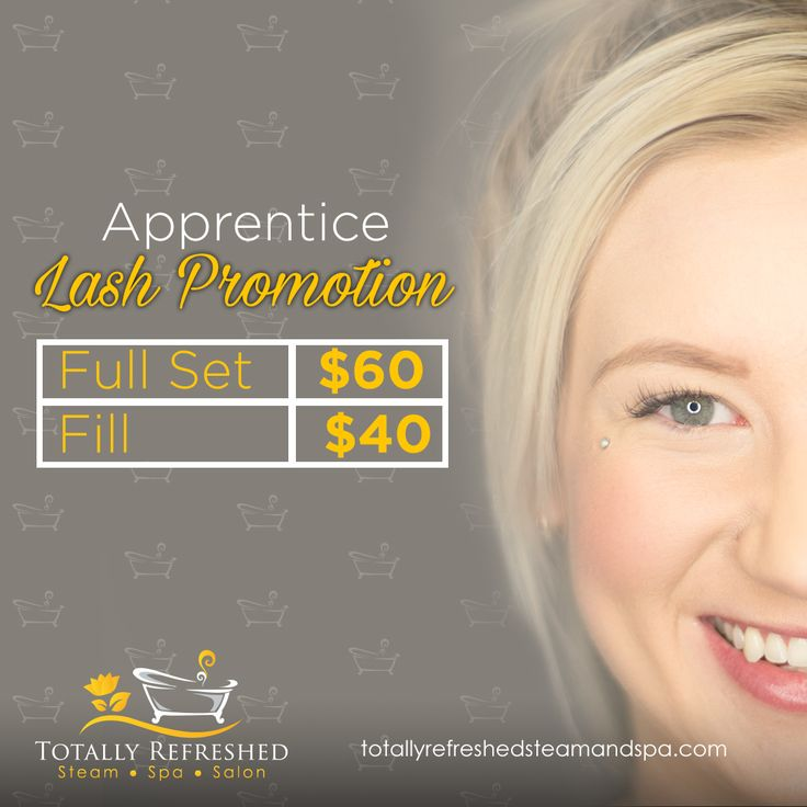Apprentice Lash Promotion! Get your eyelash Extensions at our South Location with Kellie!  Full Set- $60 Fill- $40
