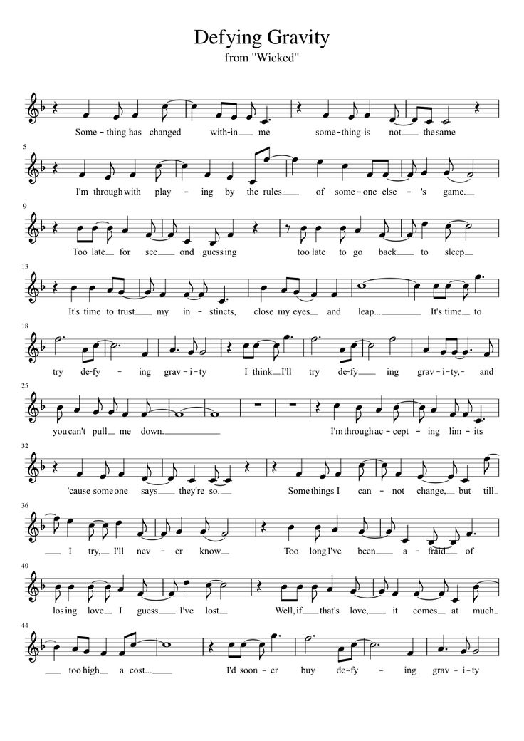 Defying Gravity - Violin Version | MuseScore
