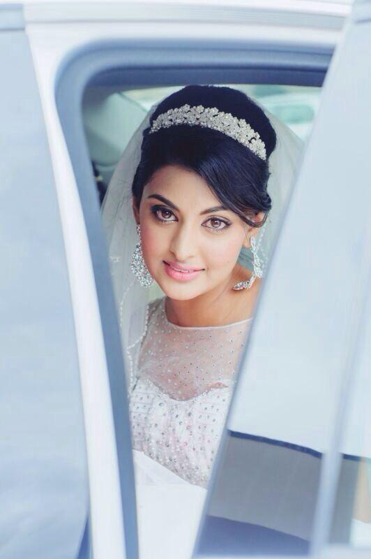 Muslim bride, glowing beauty