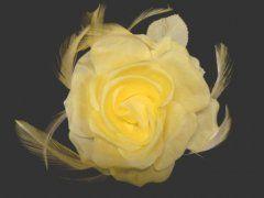 Single Silk Rose - Yellow