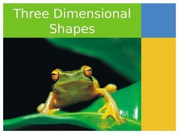 This PowerPoint leads into a center activity (3-D: 3-Dimensional Shapes: Stack - Slide - Roll: Cut and Paste Riddle Book, by KaytieCasKinder) and was used to help wrap up our chapter on 3 dimensional shapes. We didn't like the way the book wrapped up the unit and needed more to pull everything together.