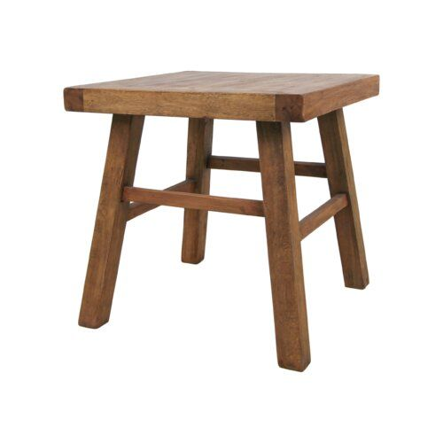 Yellow Pine Antique Teak Side Table Union Rustic In 2019 Table Cube Side Table Teak