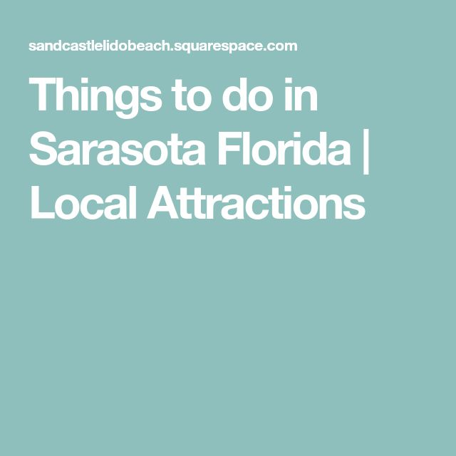 Things to do in Sarasota Florida | Local Attractions