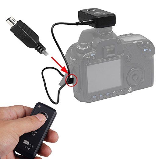 Pixel T8/ DC2 Wireless Shutter Remote Control for Nikon D3100, D3200, D3300, D5000, D5100, D5200, D5300, D5500, D90, D7000, D7100, D7200, D600, D610, D750, Df