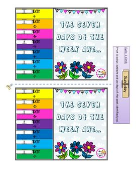 It's an evaluation tool. ESL teachers will have students pin their Days of the Week card to evaluate students' understanding of the song. This pack also includes Routine Flashcards. Two designs are available.I hope these will be useful!Miss Alexandra