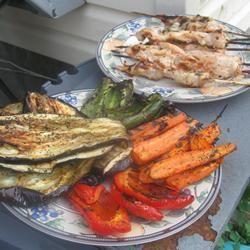 Овощи и грибы на гриле