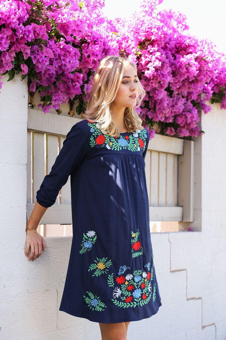 Merida Dress in Navy – Adrift Clothing