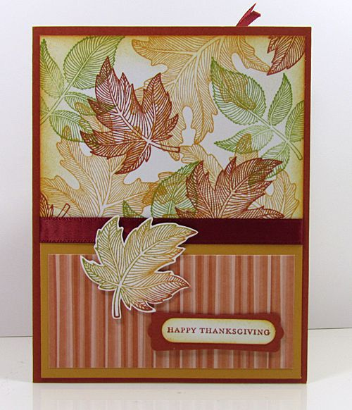 Love the fall card -- would also be great with snowflakes