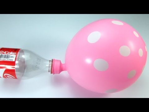 Making flying balloon at home with Powder Drain Cleaners - Amazing Experiment - YouTube