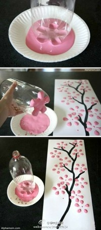 Easy way of making cherryblossom art. :)