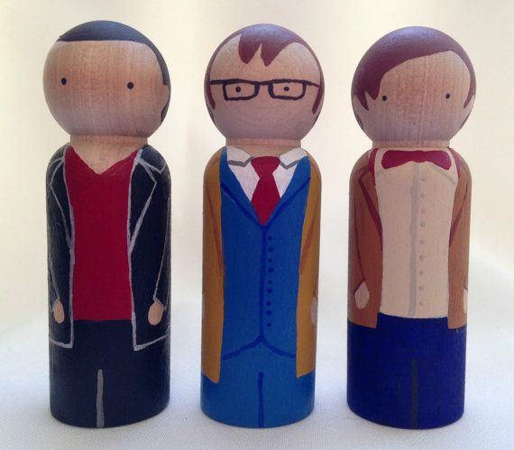 Doctor Who Peg Doll Set by PeggedByGrace on Etsy, $45.00