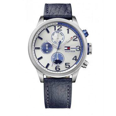 1791240 Ανδρικό ρολόι TOMMY HILFIGER Jackson με γκρι καντράν & μπλε δερμάτινο λουρί | Ρολόγια TOMMY HILFIGER ΤΣΑΛΔΑΡΗΣ στο Χαλάνδρι #Tommy #Hilfiger #Jackson #λουρι #ρολοι