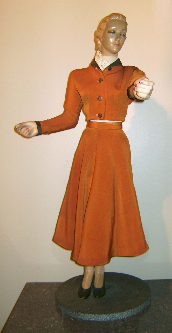 "Mid-Century Joan Crawford ""Mini"" Mannequin Store Display c. 1940 from nhantiquecoop on Ruby Lane"